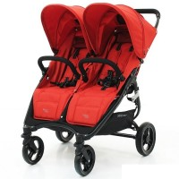 Коляска прогулочная для двойни Valco Baby Snap Duo - Fire Red