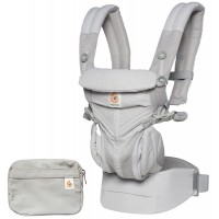 Рюкзак-кенгуру Ergobaby OMNI 360 Cool Air Mesh - Pearl Grey
