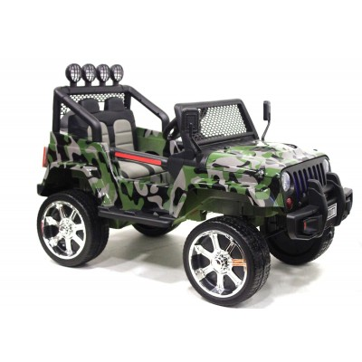 Электромобиль RiverToys Jeep T008TT - Камуфляж