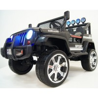 Электромобиль RiverToys  Jeep T008TT 4*4 - Черный