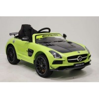 Электромобиль RiverToys Mercedes-Benz SLS A333AA VIP CARBON - Зеленый