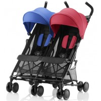 Детская прогулочная коляска Britax Roemer Holiday Double - Red/Blue mix