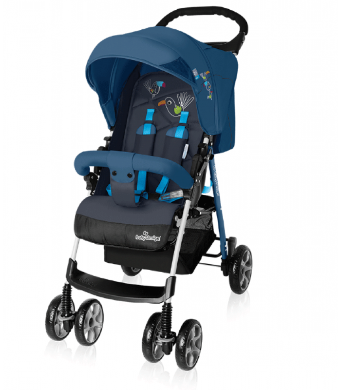 Коляска Baby Design Mini NEW - 03 Blue