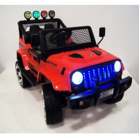 Электромобиль RiverToys  Jeep T008TT 4*4  - Красный