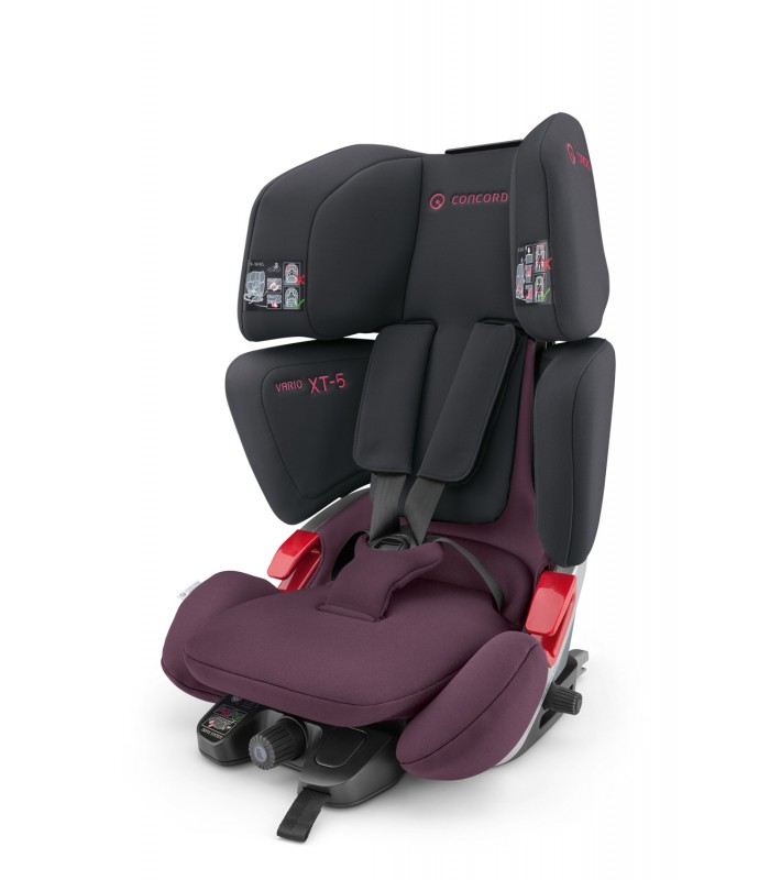 Автокресло Concord Vario XT-5 IsoFix, Top-Tether -  Black/Pink