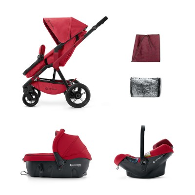 Коляска 3 в 1 Concord Wanderer Travel Set - Ruby Red