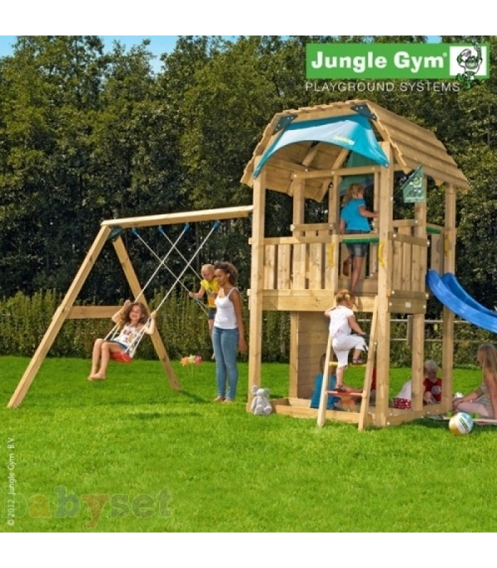 Игровой комплекс Jungle Gym Barn + SwingModule Xtra