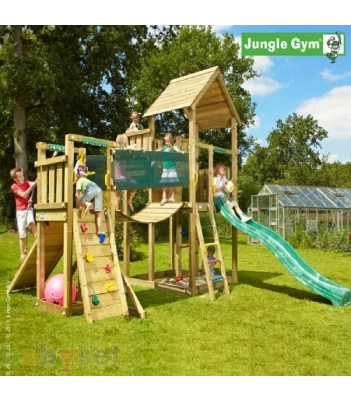 Игровой комплекс Jungle Gym Jungle Palace + BridgeModule